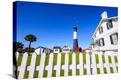 Tybee Island Light House of Tybee Island, Georgia, Usa.-SeanPavonePhoto-Stretched Canvas Print
