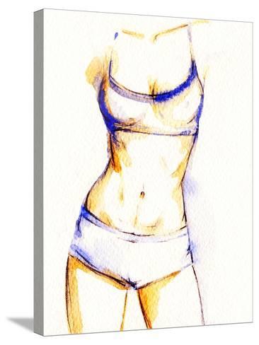 Woman Fitness Body-Anna Ismagilova-Stretched Canvas Print