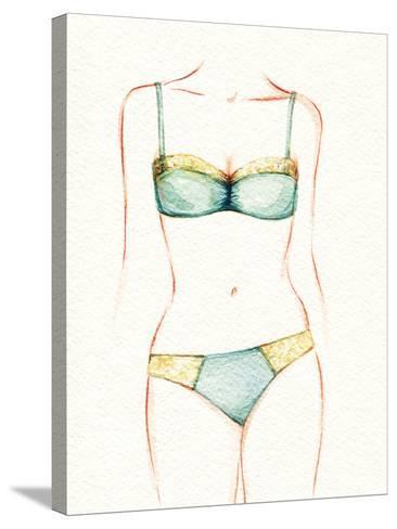 Woman Body. Underwear-Anna Ismagilova-Stretched Canvas Print