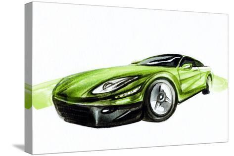 Car. Art Sketch . Sport Car. Pencil Drawing-Anna Ismagilova-Stretched Canvas Print