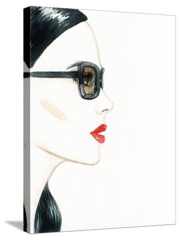 Woman Face with Glasses. Fashion Illustration-Anna Ismagilova-Stretched Canvas Print
