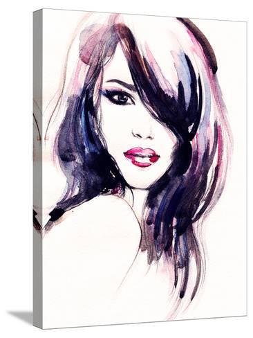 Abstract Woman Portrait-Anna Ismagilova-Stretched Canvas Print