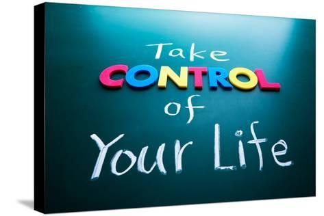 Take Control of Your Life Concept-AnsonLu-Stretched Canvas Print
