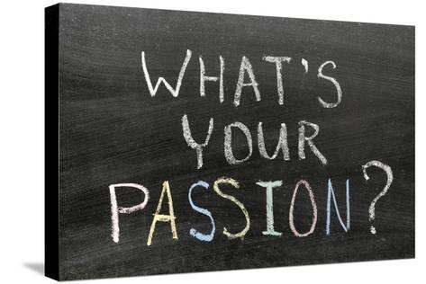 Whats Your Passion-Yury Zap-Stretched Canvas Print