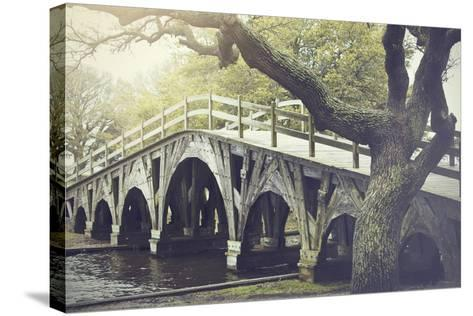 The Footbridge in Corolla, North Carolina is on the National Register of Historic Places.-pdb1-Stretched Canvas Print