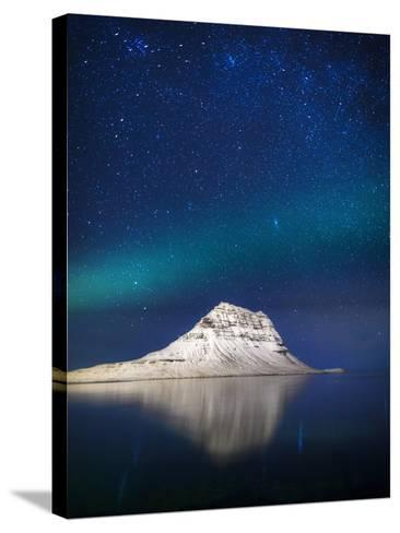 Aurora Borealis or Northern Lights in Iceland-Arctic-Images-Stretched Canvas Print