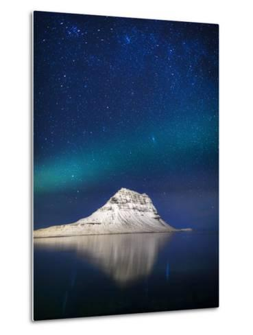 Aurora Borealis or Northern Lights in Iceland-Arctic-Images-Metal Print