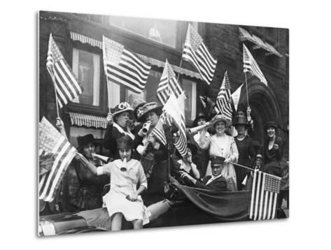 Suffragettes Celebrating Passing of 19Th Amendment--Metal Print