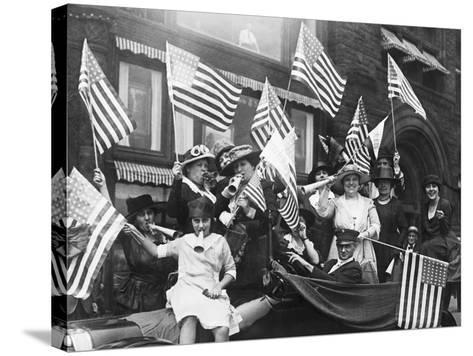 Suffragettes Celebrating Passing of 19Th Amendment--Stretched Canvas Print