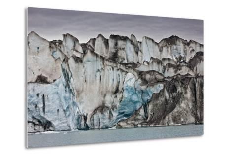 Ice Walls- Jokulsarlon Glacial Lagoon, Breidarmerkurjokull Glacier, Vatnajokull Ice Cap, Iceland-Arctic-Images-Metal Print