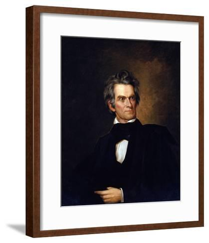 Portrait of John C. Calhoun, United Stated Secretary of State by George Peter Alexander Healy--Framed Art Print