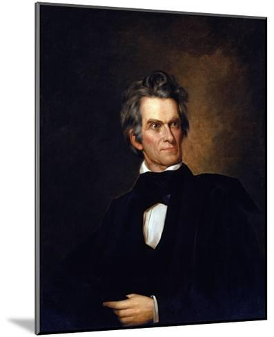 Portrait of John C. Calhoun, United Stated Secretary of State by George Peter Alexander Healy--Mounted Giclee Print