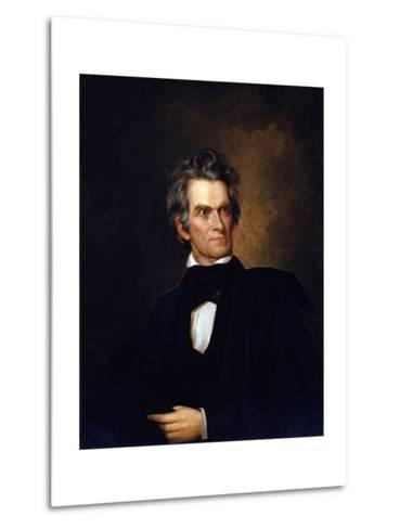 Portrait of John C. Calhoun, United Stated Secretary of State by George Peter Alexander Healy--Metal Print