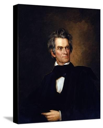 Portrait of John C. Calhoun, United Stated Secretary of State by George Peter Alexander Healy--Stretched Canvas Print