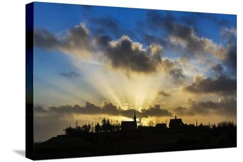 Sun Rays over Kotstrandarkirkja Church in Snaefellsnes Peninsula, Iceland-Arctic-Images-Stretched Canvas Print