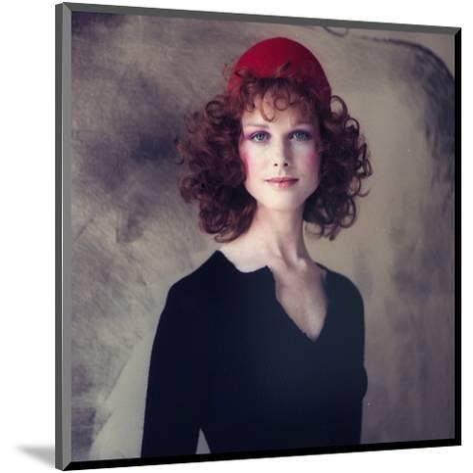 Model, Pat Dow Wearing a Juliano Knits Two Piece Dress-Gianni Penati-Mounted Premium Giclee Print