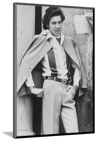 Male Model Wearing Silk Shirt and Wool Crepe Trousers-Henry Clarke-Mounted Premium Giclee Print