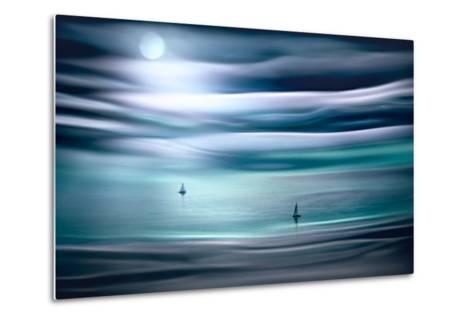 Sailing by Moonlight-Ursula Abresch-Metal Print