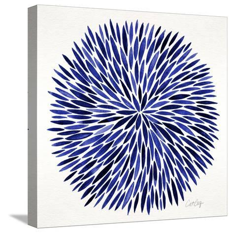 Burst in Navy Palette-Cat Coquillette-Stretched Canvas Print