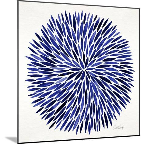 Burst in Navy Palette-Cat Coquillette-Mounted Giclee Print