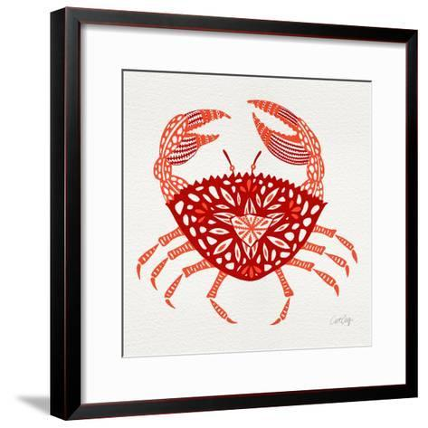 Crab in Red-Cat Coquillette-Framed Art Print