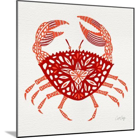Crab in Red-Cat Coquillette-Mounted Giclee Print