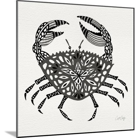 Crab in Grey-Cat Coquillette-Mounted Giclee Print