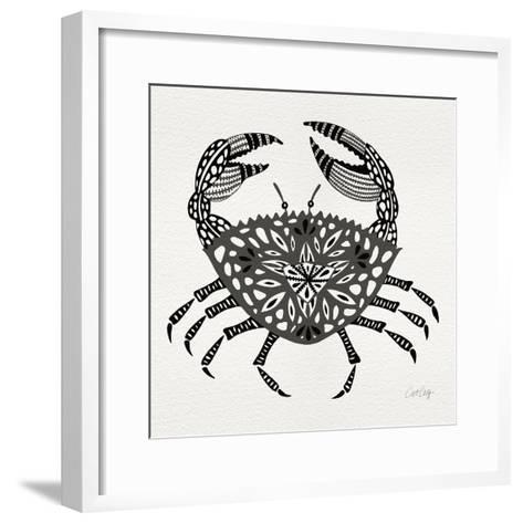Crab in Grey-Cat Coquillette-Framed Art Print