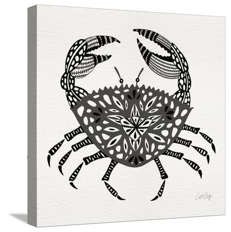 Crab in Grey-Cat Coquillette-Stretched Canvas Print