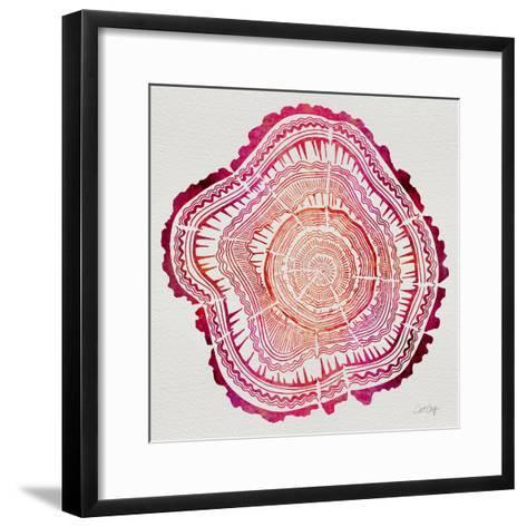 Tree Rings in Pink-Cat Coquillette-Framed Art Print