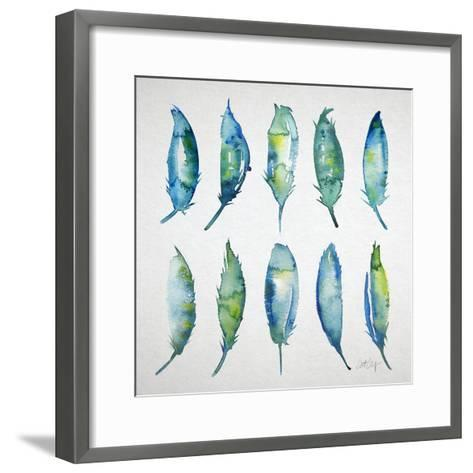 Feather Watercolor-Cat Coquillette-Framed Art Print