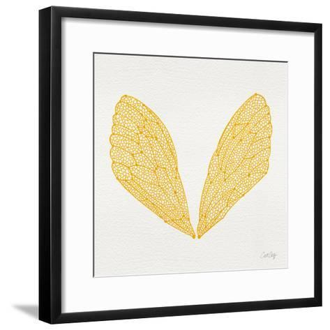 Cicada Wings in Yellow Ink-Cat Coquillette-Framed Art Print