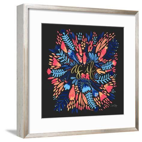 As If - Charcoal-Cat Coquillette-Framed Art Print
