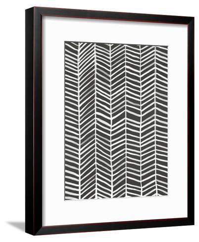 Herringbone - Black-Cat Coquillette-Framed Art Print