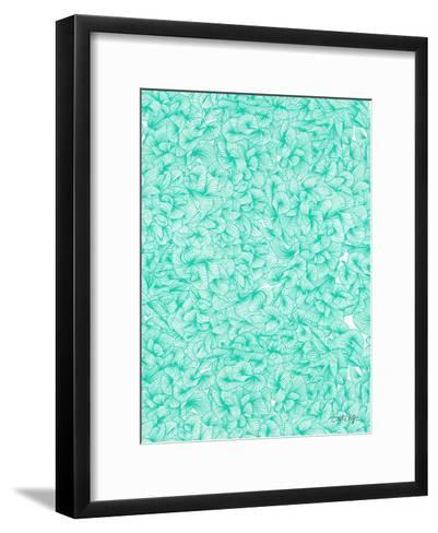 Knee Deep in Turquoise Ink-Cat Coquillette-Framed Art Print