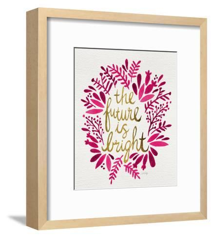 Future is Bright - Pink and Gold-Cat Coquillette-Framed Art Print