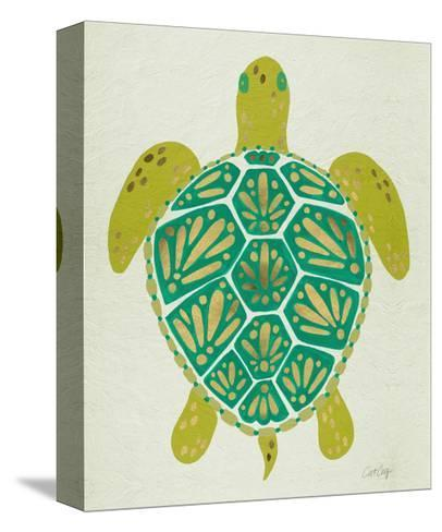 Sea Turtle in Lime-Cat Coquillette-Stretched Canvas Print
