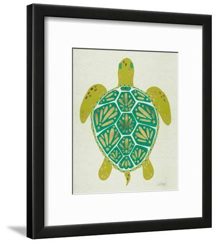 Sea Turtle in Lime-Cat Coquillette-Framed Art Print