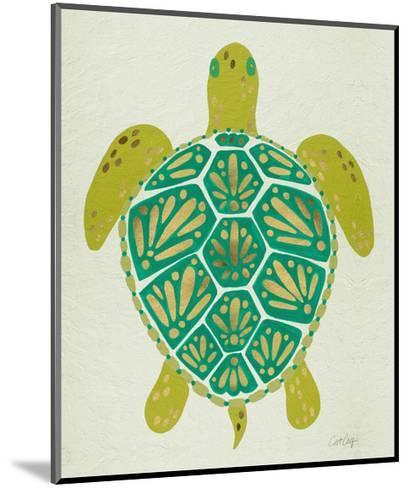 Sea Turtle in Lime-Cat Coquillette-Mounted Giclee Print