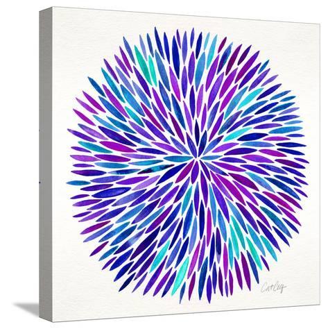Burst in Purple Palette-Cat Coquillette-Stretched Canvas Print
