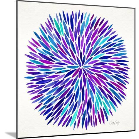 Burst in Purple Palette-Cat Coquillette-Mounted Giclee Print
