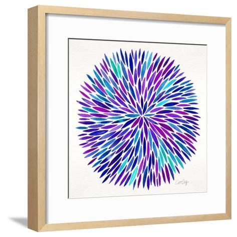 Burst in Purple Palette-Cat Coquillette-Framed Art Print