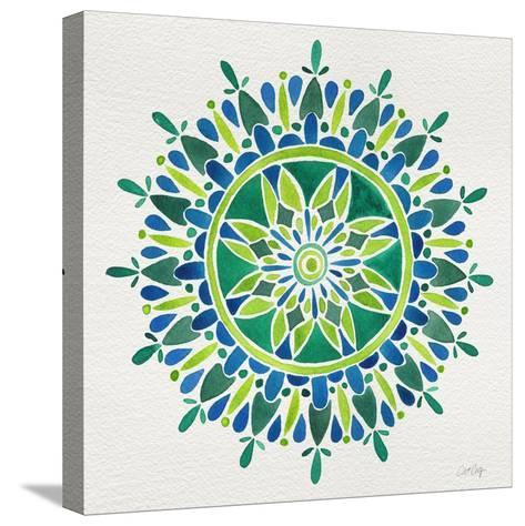 Mandala in Green-Cat Coquillette-Stretched Canvas Print