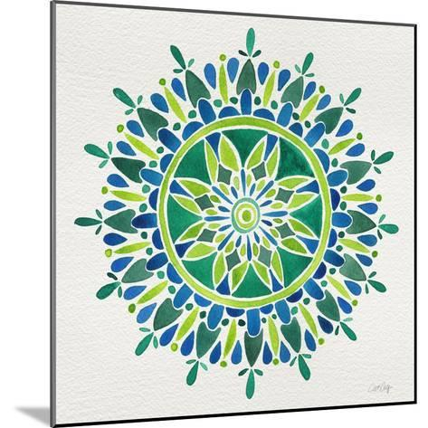 Mandala in Green-Cat Coquillette-Mounted Giclee Print