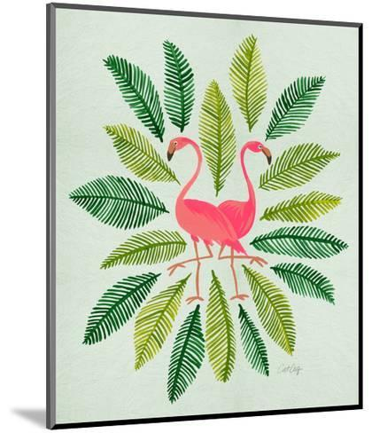 Flamingos-Cat Coquillette-Mounted Giclee Print