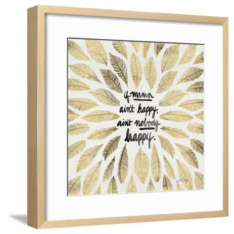 If Mama Aint Happy - Gold and Black – Coquillette-Cat Coquillette-Framed Art Print