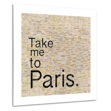Map Paris-Lauren Gibbons-Metal Print