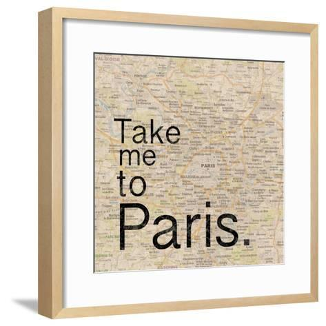 Map Paris-Lauren Gibbons-Framed Art Print