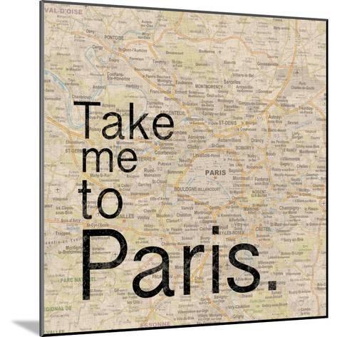 Map Paris-Lauren Gibbons-Mounted Premium Giclee Print
