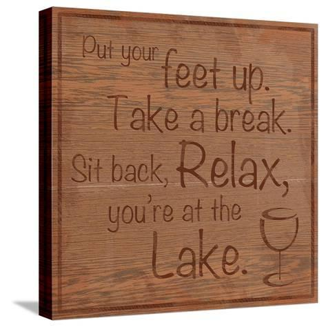 Relax Lake-Lauren Gibbons-Stretched Canvas Print